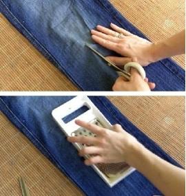 как сделать ремень на джинсах